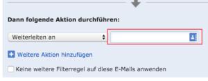 Eingabefeld Mailadresse