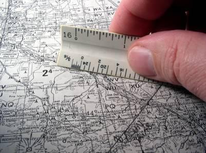 Entfernung auf Landkarte messen