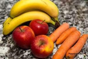 Bananen, Äpfel und Karotten