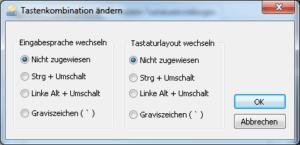 Dialog zum Ändern der Tastaturbelegung in Windows 7