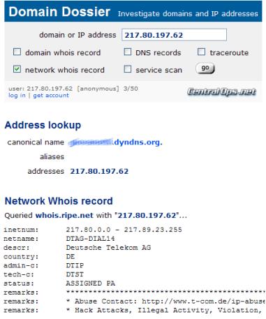 Domain Dossier