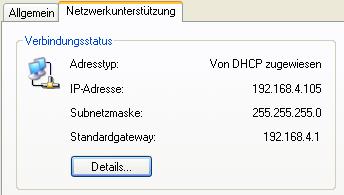 Anzeige einer IP-Adresse