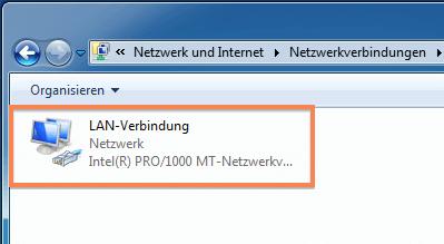 LAN-Verbindung doppelt anklicken