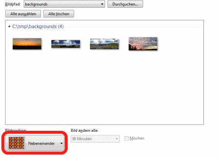 Windows Hintergrund auf Dualmonitor