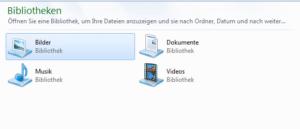 Windows 7 Bibliotheken
