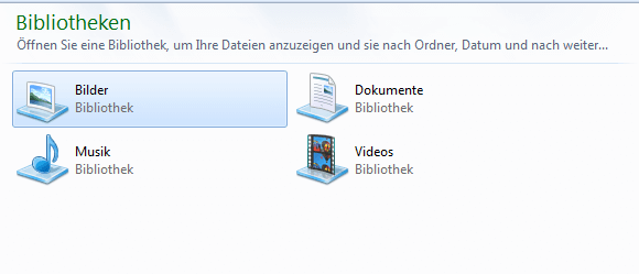 Windows 7 Bibliotheken