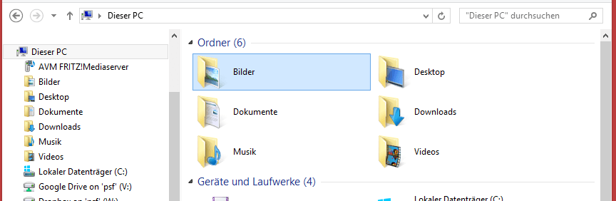 Windows 8 Dieser PC