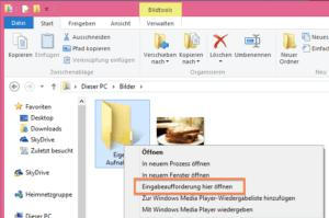 Eingabeaufforderung in Windows starten