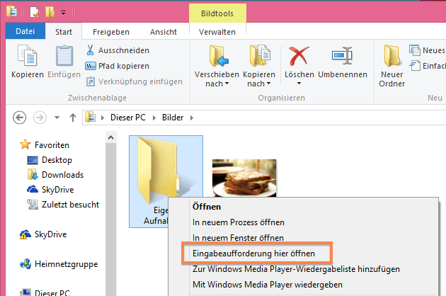 Eingabeaufforderung in Windows starten
