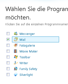 Windows Live Essentials von Windows Update aus installieren