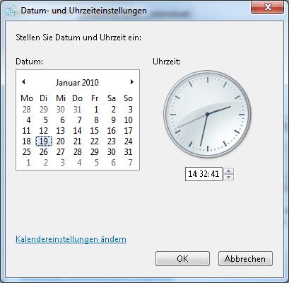 Uhrzeit stellen