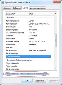 EXIF-Daten in Windows