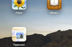 Tippscout-Bookmark auf iPad