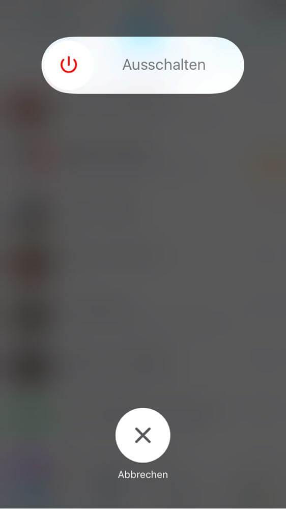 iPhone ausschalten wenn App hängt