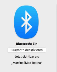 Systemeinstellungen Bluetooth