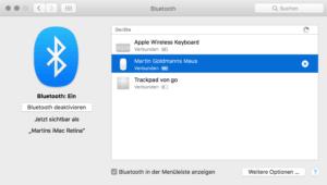 Bluetooth-Maus entfernen