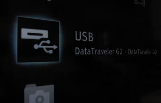 Vom Fernseher erkannter USB-Stick