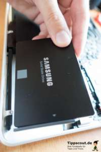 Auch eine SSD muss formatiert sein - das funktioniert genauso wie bei einer regulären Festplatte.