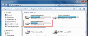 Verfügbare Laufwerke in Windows 7