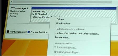 Die Datenträgerverwaltung von Windows 8.1