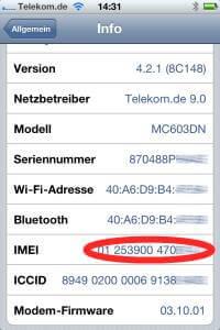 iphone über seriennummer finden