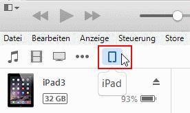 iTunes iPad in Geräte
