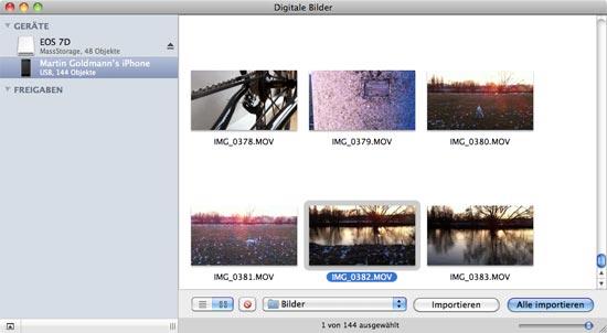 Digitale Bilder Programmfenster
