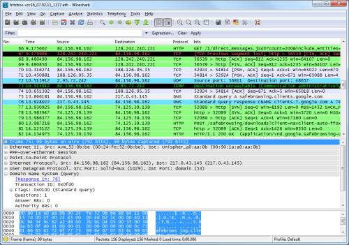 Beispiel Wireshark-Analyse