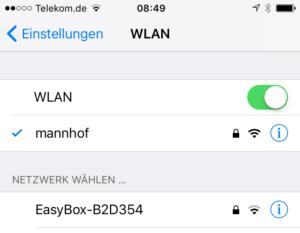 WLAN-Verbindung einstellen