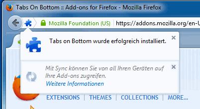Firefox tabs at bottom
