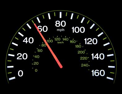 Tachometer mit kmh und mph - (Foto: iStockphoto/VisualField)