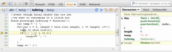 how to use firebug for debugging javascript