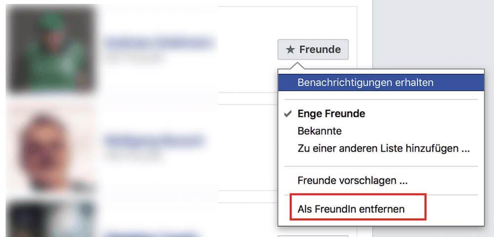 Facebook Freundschaft beenden