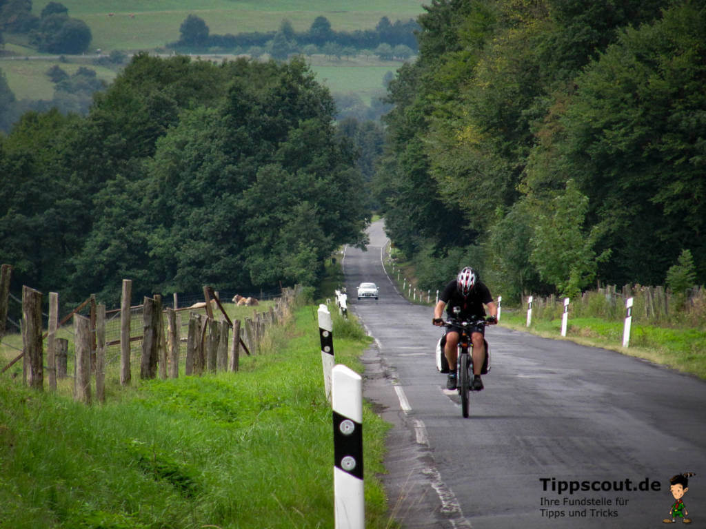 Rad fahren am Berg