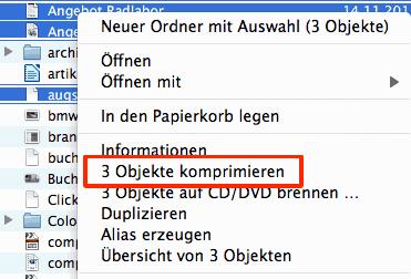Dateien verkleinern auf dem Mac