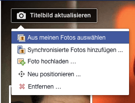 Titelbild in Facebook ändern