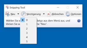 Windows Snipping Tool zum Screenshot machen