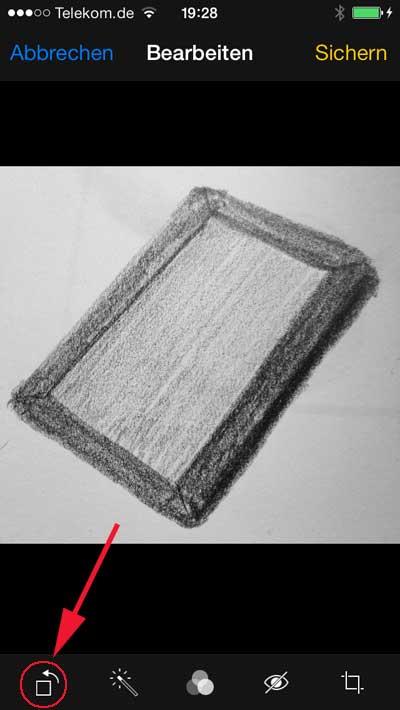 iphone bild drehen. Black Bedroom Furniture Sets. Home Design Ideas