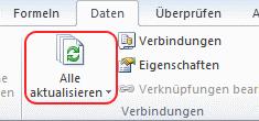 Excel Kursanzeige aktualisieren
