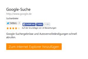 Google hinzufügen