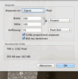 Bilder verkleinern auf dem Mac