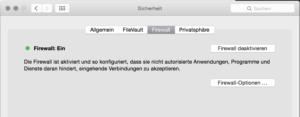Firewall auf einem Mac