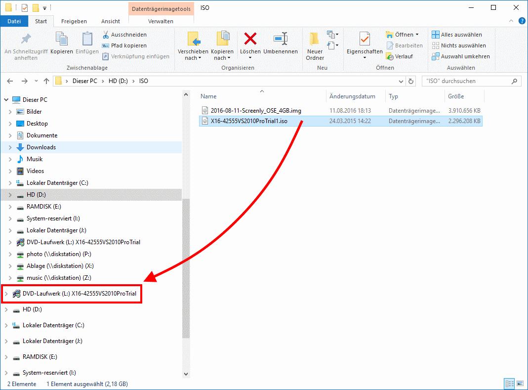 ISO Datei als Laufwerk