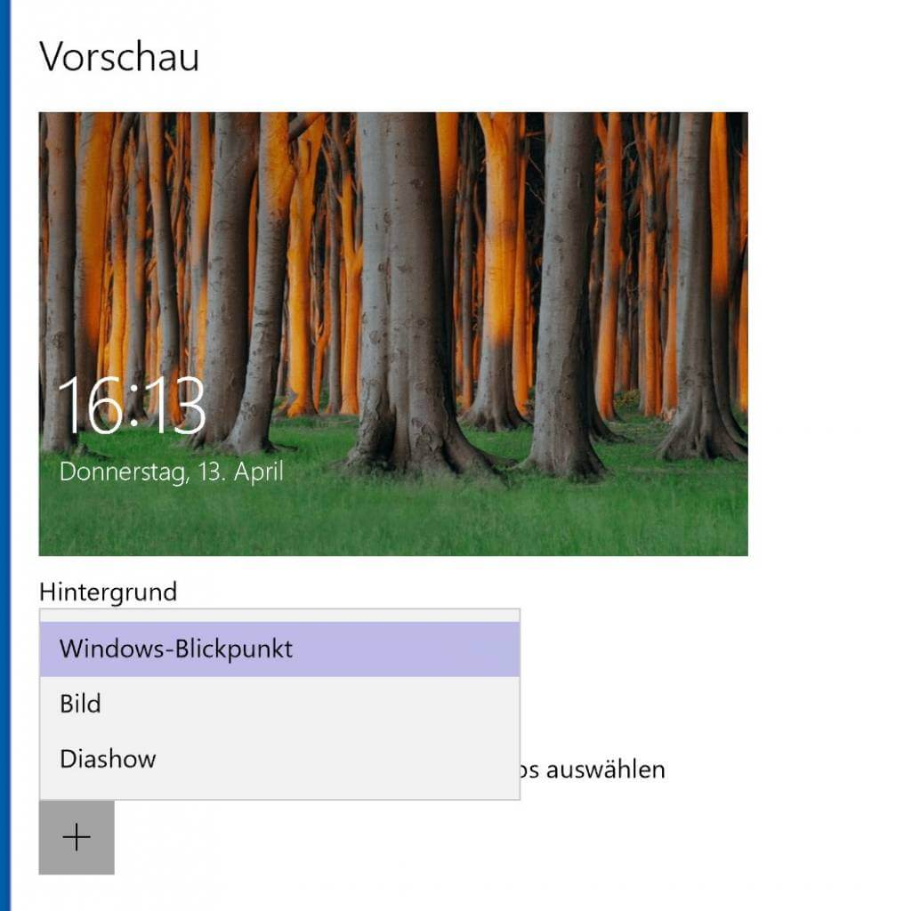 Sperrbildschirm ändern in Windows 10