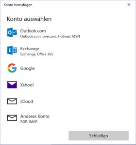 Windows Mail Konto einrichten