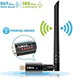 Aoyool WiFi Adapter 1200Mbit/s (5.8G/867Mbps+2.4G/300Mbps), WLAN Adapter USB3.0 Wireless Adapter...