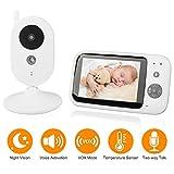 Babymonitor Babyphone mit Kamera 3.5' Funk Video Kamera Baby Monitor Babyviewer Überwachungskamera...