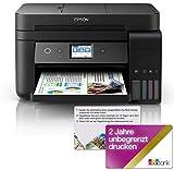 Epson EcoTank ET-4750 4-in-1 Tinten-Multifunktionsgerät Drucker (Drucken, scannen, kopieren, faxen,...