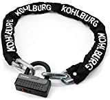 KOHLBURG massives Kettenschloss 120cm lang & 12mm stark mit höchster Sicherheitsklasse 10/10 -...