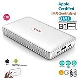 1000GB (1TB) Extern Festplatte für iPhone 11 Pro/6/7/8/X,XR Lghtning USB Stick iPad Pro und MacBook...